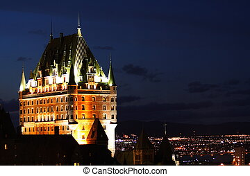 Chateau Frontenac, Quebec City - Night scene of the national...