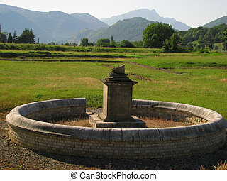 Roman ruin - Close to Pyrenees, in South France, Comminges,...