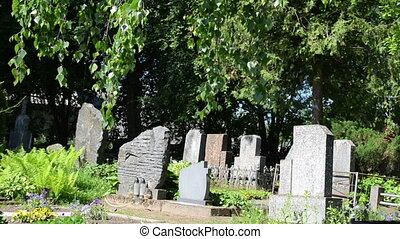 gravestone tree cemetery - Monuments grave tomb stones and...