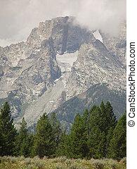 High Mountains - Mount Moran of the Teton Range.