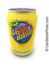 Sugar Bomb - Sugar loaded soda drink in a can with made up...