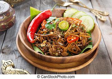 Mi goreng or mee goreng mamak, Indonesian and Malaysian...