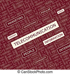 TELECOMMUNICATION Word cloud concept illustration Wordcloud...