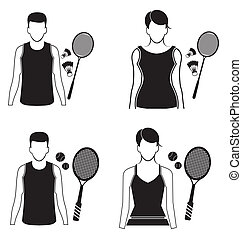icon set - vector illustration of sport icon set