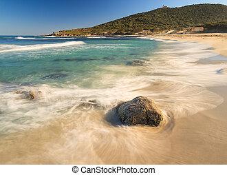Bodri beach near Ile Rousse in Corsica - A deserted Bodri...