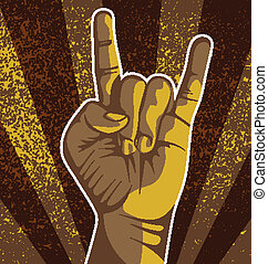 hand sign - vector illustration of 	 hand sign