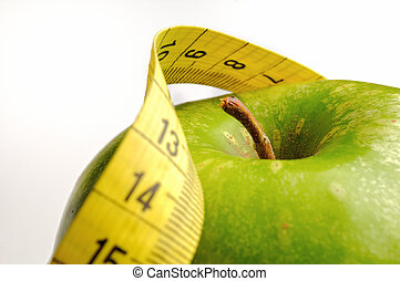 apple and measuring tape for a healthy lifestyle 1 - apple...