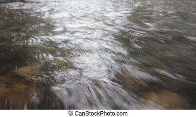 water quickly runs. prompt watercourse - small river with...