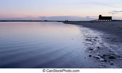 Sunset in Ria Formosa Algarve - Sunset and historic...