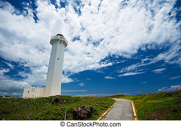 The Lighthouse in HIGASHI HENNA Cape, Okinawa...