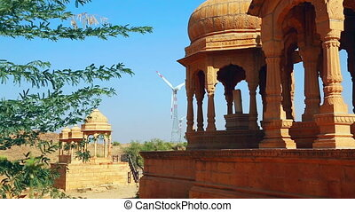Elements of Indian archtecture - View of sandstone...