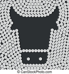 pill, tablet, cow