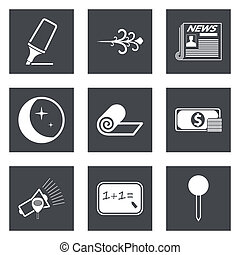 Icons for Web Design and Mobile Applications set 8. Vector...