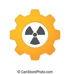 Gear icon - Illustration of an isolated gear with an icon