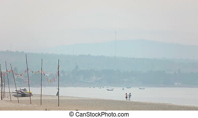 Hazy morning - View of the beach of Mui Ne in the morning