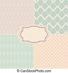 Shabby chic patterns and seamless backgrounds. Ideal for...