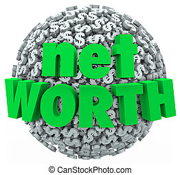 Net Worth Money Ball Sphere Total Financial Value Wealth -...