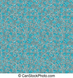 turquoise floral ornament