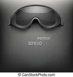 Background of black goggles vector - Background of military...