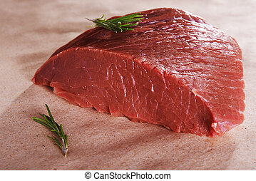 beef meat - raw beef meat. round part