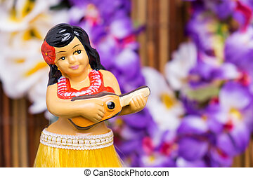 Hula Girl Doll - Tropical setting for a Hula girl doll
