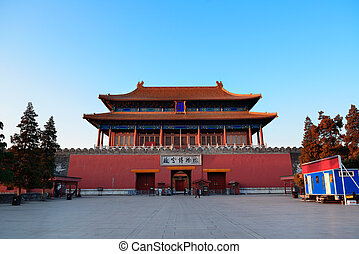 Imperial Palace in the morning in Beijing.