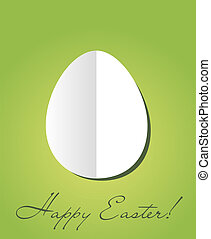 Easter card with paper egg