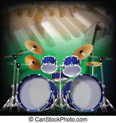 abstract background with drum kit - abstract music...