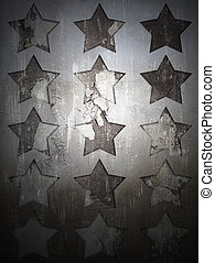 Military Grunge background with abstract stars