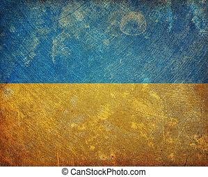 Grunge Ukraine flag