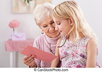 Spending time together - Grandma spending free time with her...