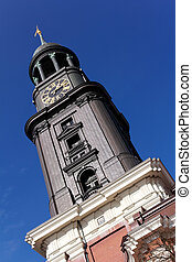 Sankt Michaelis Church Hamburg - Belfry of Sankt Michaelis...