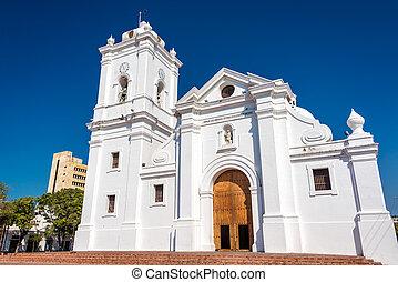 Santa Marta Cathedral - White cathedral of Santa Marta,...