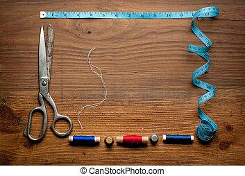 Costura, herramientas, coloreado, tape/Sewing, Kit