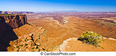 Dry Desert Landscape of Canyonlands national Park Utah