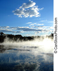 Geothermal activity in Kuirau Park, Rotorua, New Zealand
