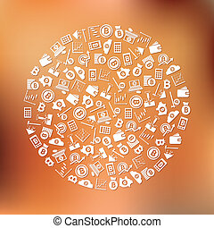 bitcoin icons in circle