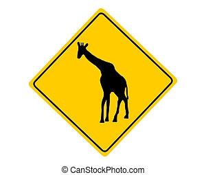 Giraffe warning sign