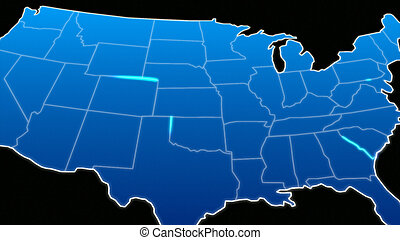 Map of the united states - CGI Map of the united states