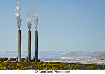 Smoke Stacks Polluting an Otherwise Untouched Landscape