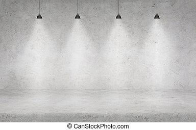 pared, Concreto, luces