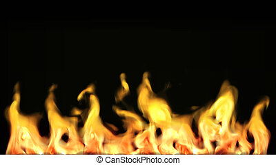 Highly Detailed 3d abstract fire agasinst black Background