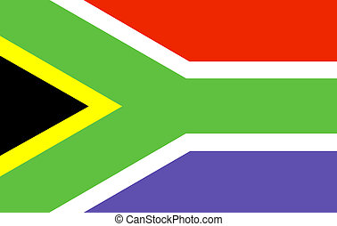 south africa Flag isolated
