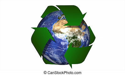 Concept of Recyling and green energy - 3d Concept of...