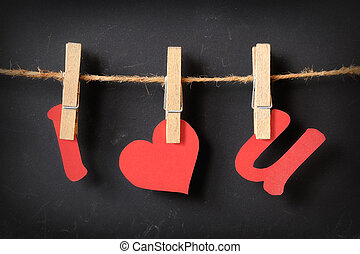 i love u hanging on blackboard - i love u hanging with...