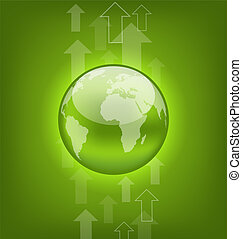 Abstract hi-tech background with symbol Earth