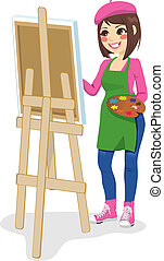 Painter Artist Woman - Beautiful painter artist woman...