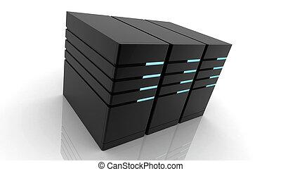 Computer server - Digital illustration of Computer server in...