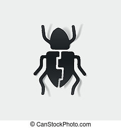 realistic design element: beetle