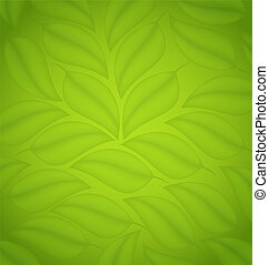 Green leaves texture, eco friendly background - Illustration...